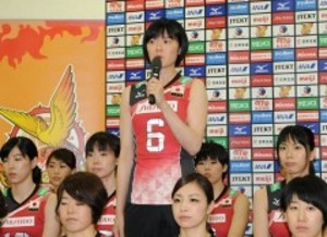 岡山シーガルズ宮下「強い覚悟」 バレー日本女子代表会見
