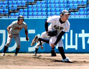 硬式野球定期戦、松山大が勝利 坊っちゃんスタジアム