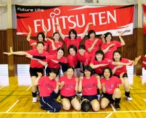 バレー 富士通テン、9人制の神戸大会に闘志