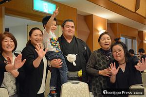大相撲 阿武咲が地元の中泊で夏場所の活躍報告