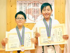 空手 西胆振の3選手が大活躍 斉藤優勝、久保3位