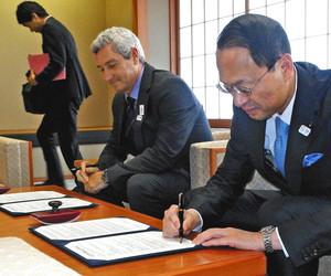 東京五輪パラ 金沢市とフランス水泳連が協定締結