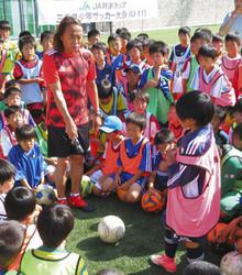 サッカー元日本代表の心技伝授 北沢さん、伊勢の児童に