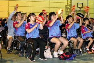 卓球世界選手権 母校で平野選手にエール