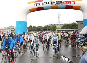 1400人自転車で快走 グランフォンド富山