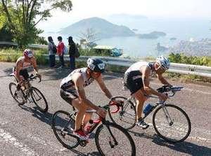 福山「鉄人」レース256人が挑む トライアスロン