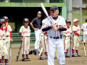野球 元巨人の黒江さんら羽生で野球教室