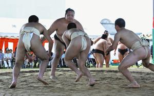 大相撲 宮城野部屋が支援 牛久の少年院で半世紀続く大会
