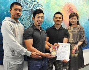 パワーリフティング 国体出場者ら琉球新報社訪問