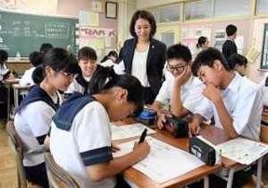 飛び込み 五輪出場の中川真依、高崎の中学校で語る