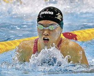 中村(金大)4冠、大会新5 県学生水泳
