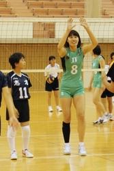 JTが加古川でバレー教室 中学生120人に指導