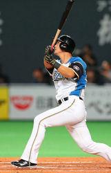 日ハム・中田、逆転二塁打 ハム6連敗で止める