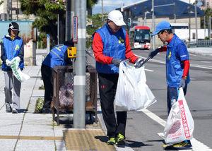 函館マラソン、コースきれいに 市民有志ら40人清掃