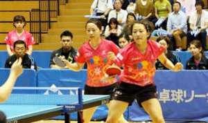 卓球 中国電力(女子)が4位 日本リーグ前期