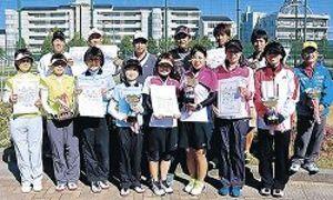 一般は須田・上田、服部・橋本組制す 野田杯争奪ソフトテニス