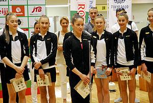 東京五輪パラ ブルガリア新体操チームが村山市訪問