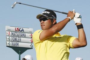 全米OPゴルフ、松山8位急浮上 7バーディー、藍パパ助言