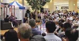 大相撲朝乃山「次も勝ち越す」 富山でトークショーと握手会
