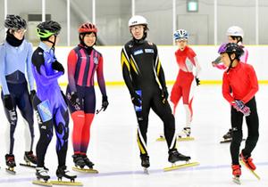 スケート長島選手、平昌へ滑り上々 盛岡の通年リンクで練習