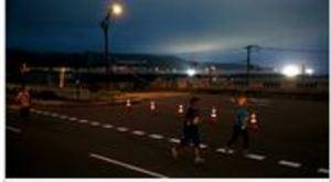 奥尻ムーンライトマラソン ランナー535人、島に熱気