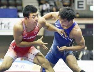 角がグレコ85キロ級準優勝 レスリング全日本選抜選手権