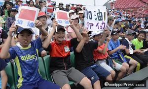 ソフトボール 「一校一国」応援 弘前市で開催中の東アジア杯