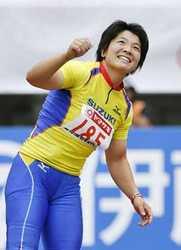 女子やりなげ、海老原9度目の優勝 陸上日本選手権