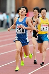 男子1500m、遠藤追い上げ及ばず2位 陸上日本選手権