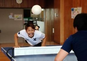 頭で卓球?「ヘディス」です 7月篠山で関西予選