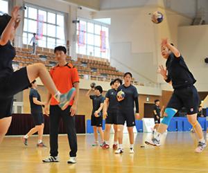 ハンド各国が練習スタート 東アジアU-22、26日から花巻で