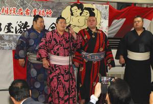 大相撲 宇良関ら 羽島市で木瀬部屋激励会