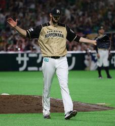 日本ハム 大谷、内角攻めに耐え、8球目打ち返す