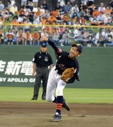 渡辺君始球式「一生の思い出」 あづま球場でヤクルト-巨人戦