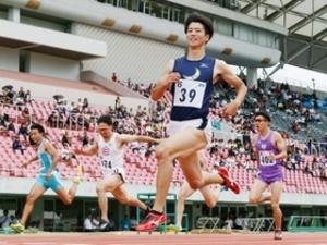陸上西日本学生対校 関学大多田、余裕の10秒16