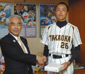 世界少年野球 高岡市福岡中3年の上田投手