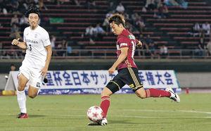 金沢、J1撃破ならず 天皇杯サッカー3回戦、神戸に1-3