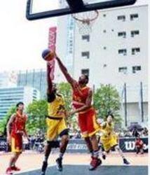 白熱3人制バスケ 広島で初開催