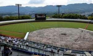 野球 命名「キズナ」球場 岩国市愛宕山地区の野球場