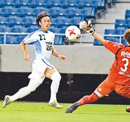 J3富山快勝 ガンバ大阪U23に2-0